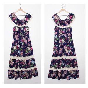 Off Shoulder Sleeveless Maxi Dress | A221